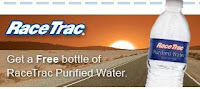 Free bottle of water from Racetrak