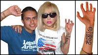 Free Lady GaGa Temporary Tattoo