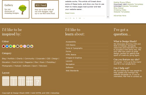 Footers In Modern Web Design: Examples and latest Ideas | sureshyalla
