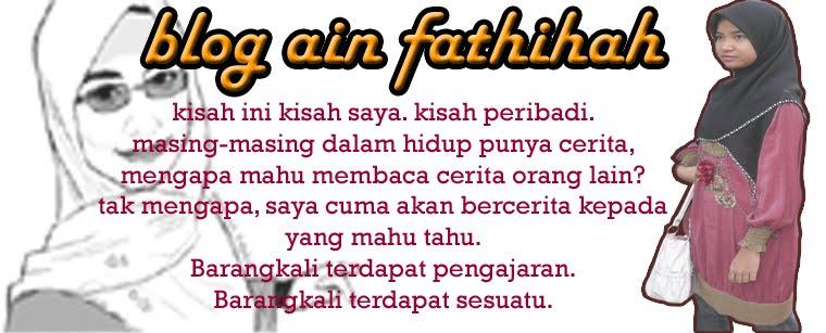 Blog Ain Fathihah