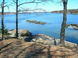 Winslow Park Casco Bay view