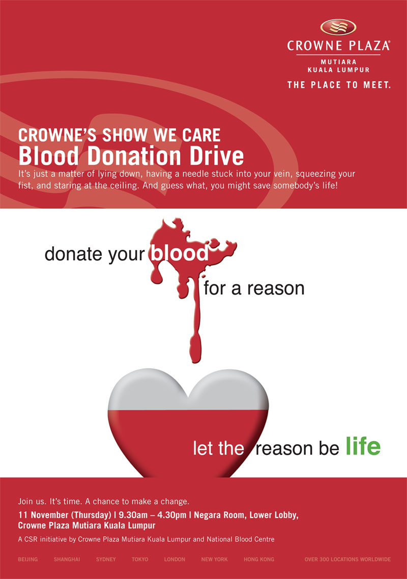 Happenings at crowne plaza mutiara kuala lumpur 11012010 12012010 blood donation drive on 11 november 2010 930am 430pm yadclub Gallery