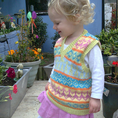 Les Petits Anglais: Free pattern - Fair Isle tank-top/vest