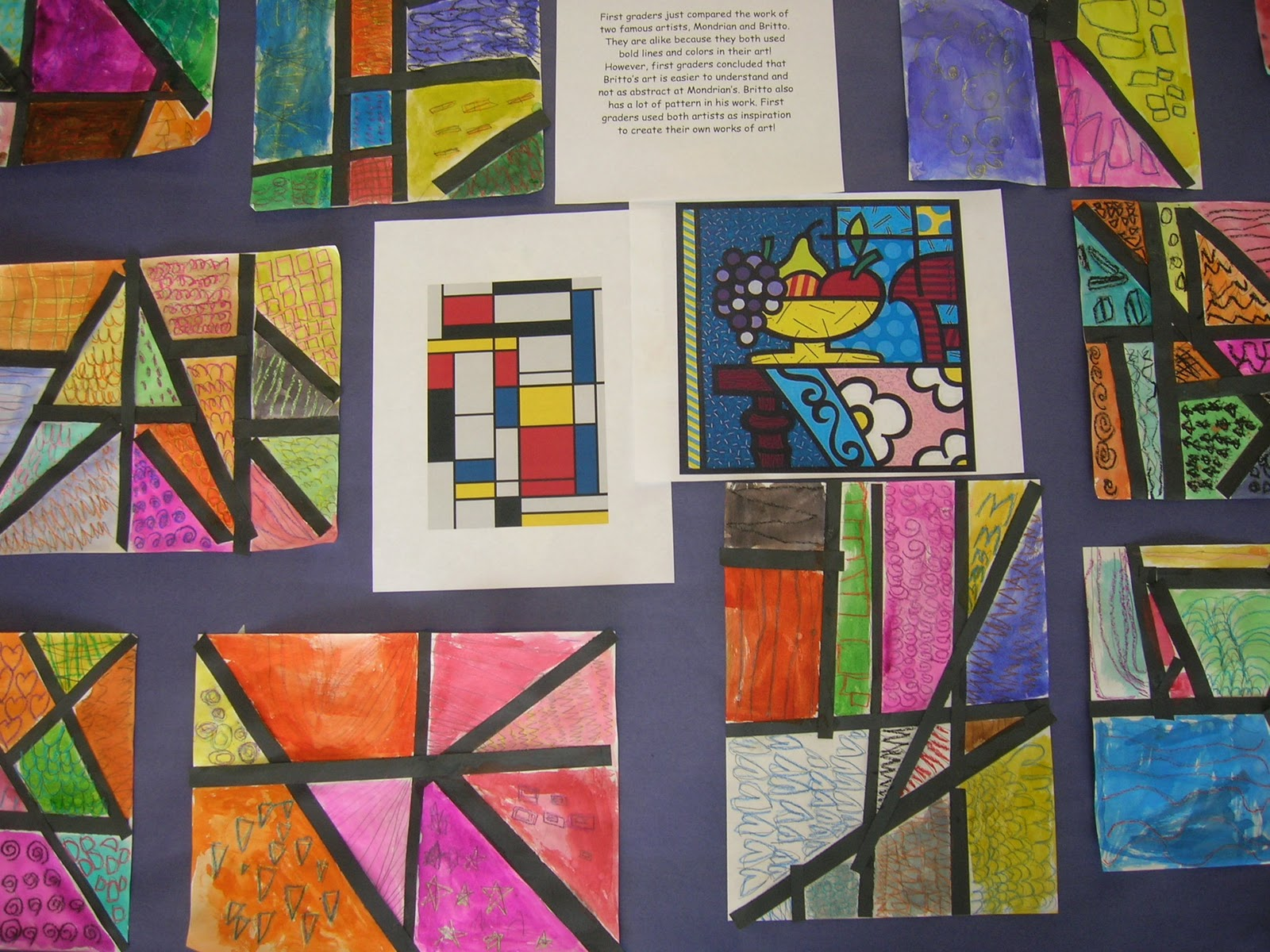Line Art Elementary : The elementary art room mondrian meets britto
