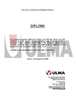 Certificado de ULMA