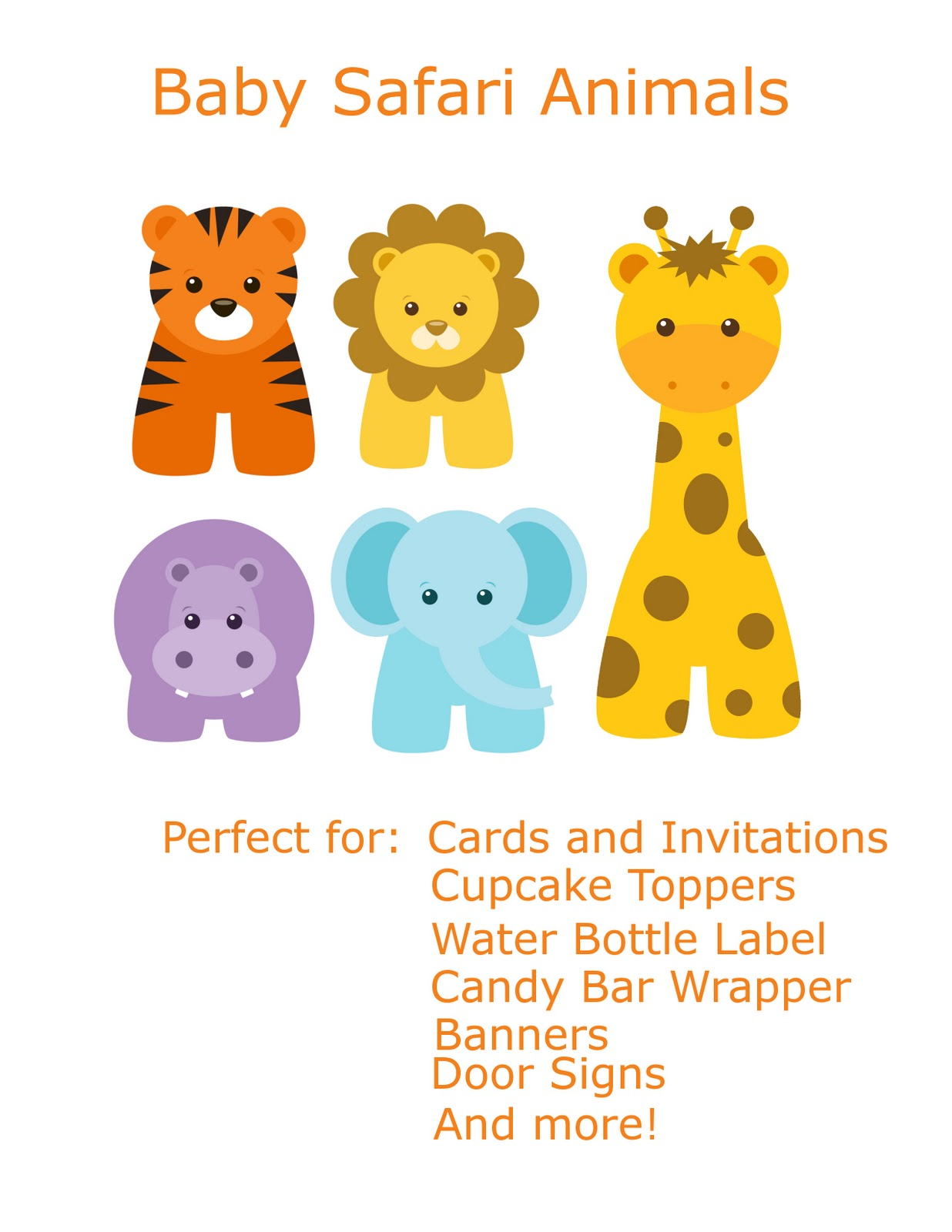 baby animals wild animals baby animal clipart baby shower safari baby