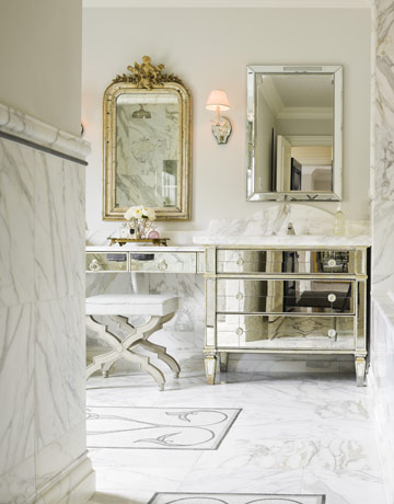 The granite gurus vintage style calacatta gold marble - Accessoire salle de bain retro ...