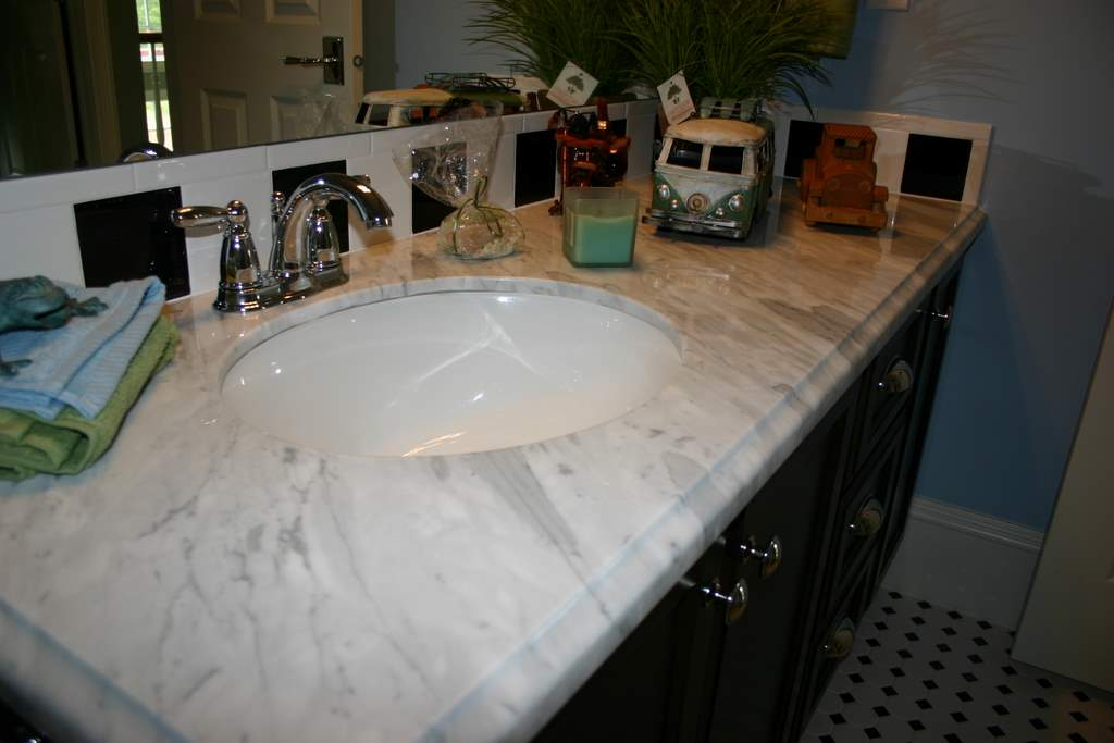 Vanities With Marble Countertops From MGS By Design