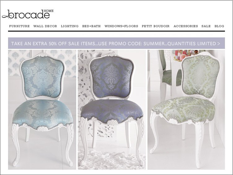 All of these wonderful options are from Brocade Home. Open House Staging  Office Chairs ala Brocade Home
