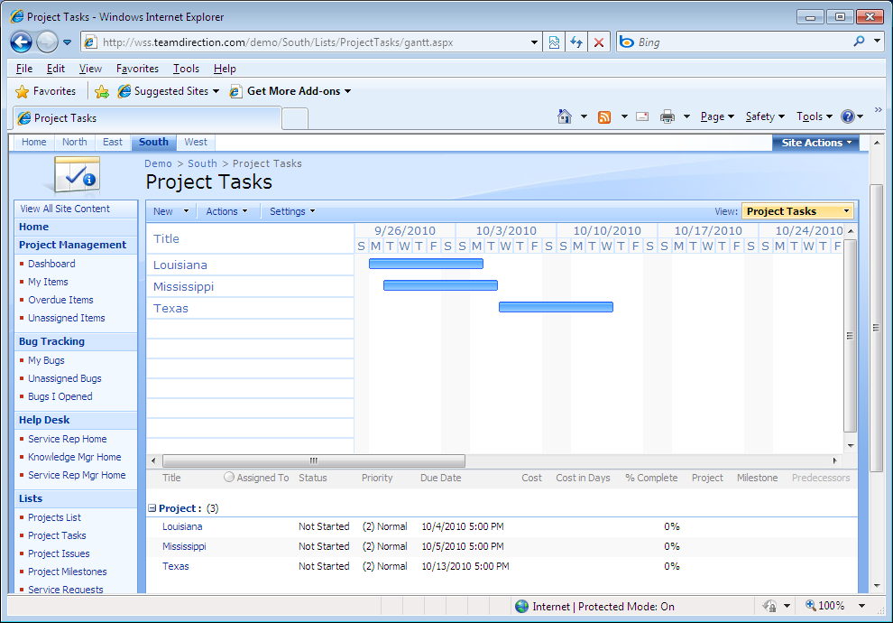 intelligantt publish ms project 2010 tasks to sharepoint 2007 With sharepoint task list template