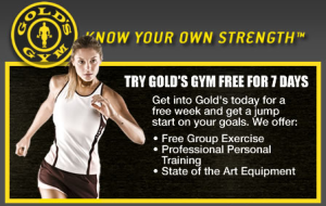 Gold's Gym Paramus VIP Plan for $/mo. Get Free Pass at Gold's Gym. Click the super Gold's Gym deal and don't need to check your wallet for the products at your cart any more. Shop with Gold's Gym Promo Code, Save with AnyCodes. Smart customers would never pay full price. Glad to see the SMART YOU find us, AnyCodes.