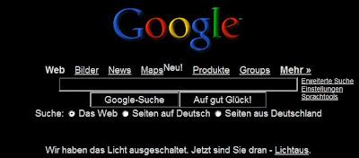 google allemagne sans lumiere