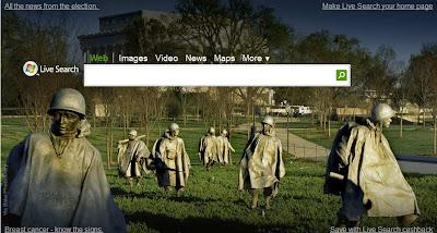 Journée des vétérans sur Live Search