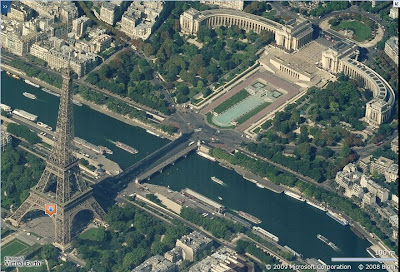 Vues obliques de Paris dans Virtual Earth