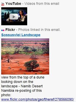 Intégration de Youtube, Flickr, Picasa et Yep dans Gmail