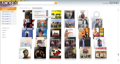 Bing Visual Search meilleures ventes d'albums
