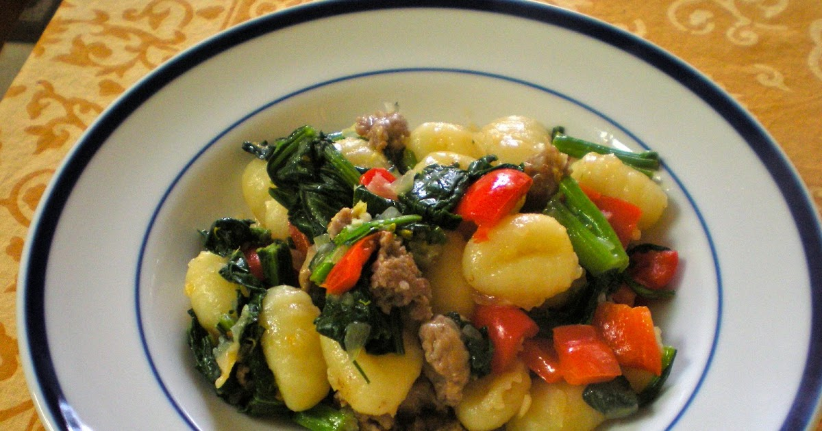 edible ventures: Gnocchi with Sausage and Broccoli Rabe