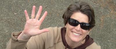 Jolanda Dubbeldam in sunglasses