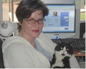 Jolanda with cat