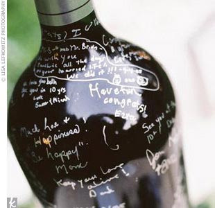 You Can Create This Guest Book By Purchasing One Extra Large Bottle Of Wine Or Several Average Size Bottles With Silver Gold Markers Sharpies Work