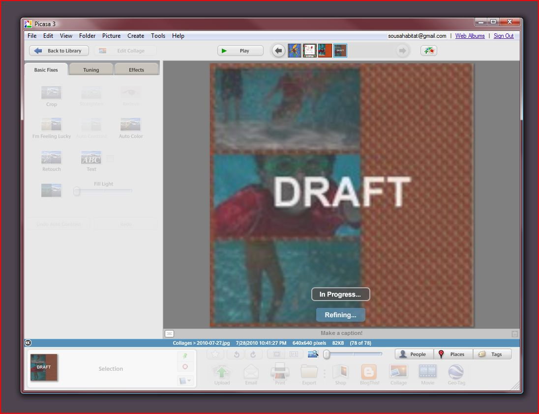 how to use picasa for a collage youtube