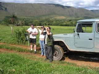 Participantes observando as aves