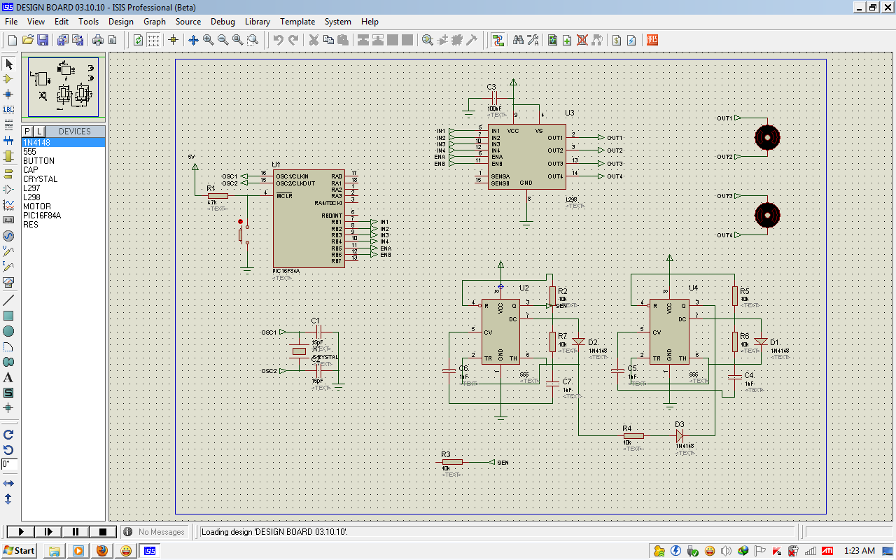 Final Year Project Week 10 27 Sept 1 Oct 2010 Circuit In Proteus Isis Design Servo Motor Diagram Select Proper Input Output Code Test And Pcb