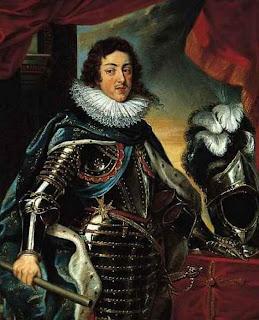 Шлем, богато украшенный перьями (Рубенс Петер Пауль - Портрет Людовика XIII, короля Франции, Нортон Симон музей, Пасадена, Калифорния, США)