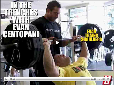 Evan Centopani boybuilder training and workout vieo shoulders