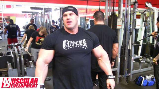JAY CUTLER 2011 TRAINING IN GOLD GYM | Muscle Guys