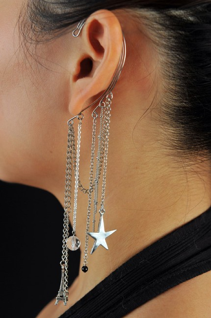 ear cuffs for pierced ears. Perhaps these ear cuffs from