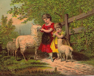 Pastoral May Day scene