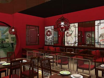 ... : Indonesian Chinese Resto Interior Design - Modern Minimalist Design