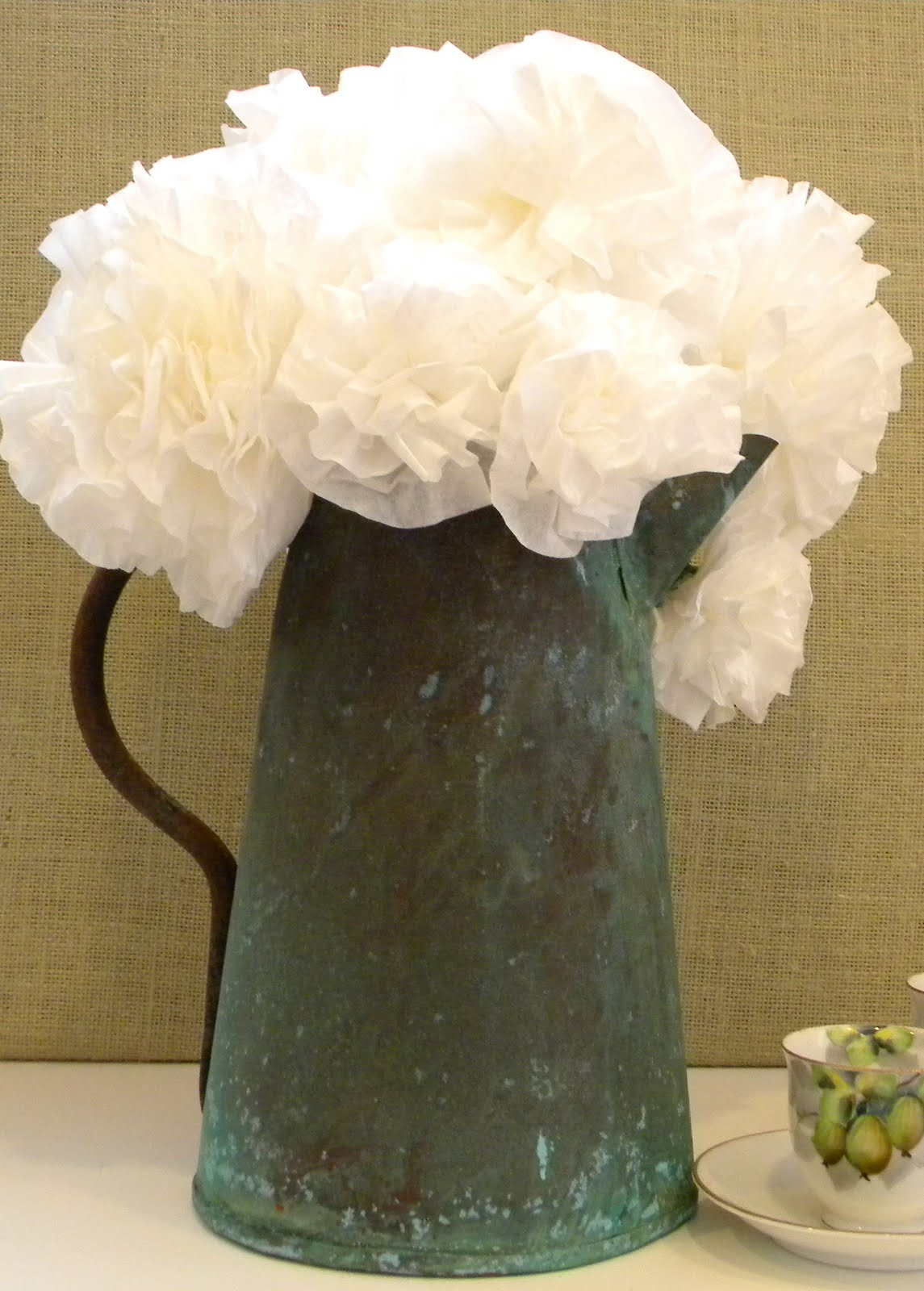 homework a creative blog Upcycling coffee filter flowers