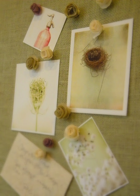 Rice Paper Flower Tacks via homework | carolynshomework.com