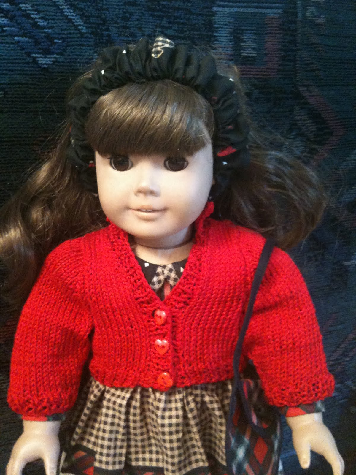 Free Knitting Pattern Doll Cardigan : Old Jail Arts: Free Pattern - Knit Cotton Cardigan for 18 ...