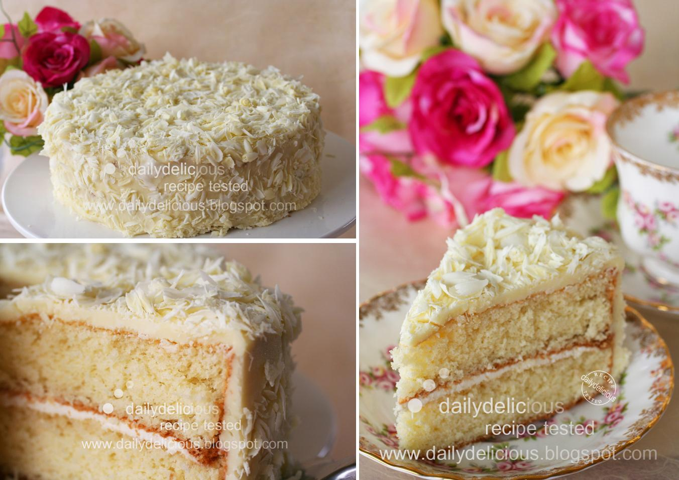 ... Rose water and white chocolate gateau: For the white chocolate lover