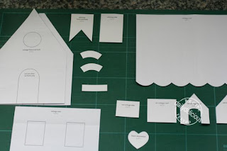 pattern for double gable cardboard house