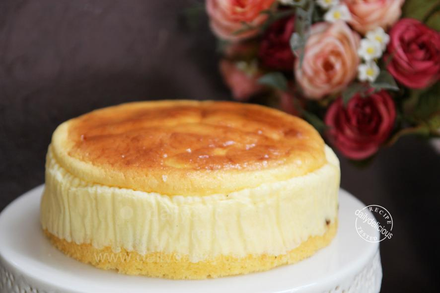 Cheesecake With Sponge Cake Base