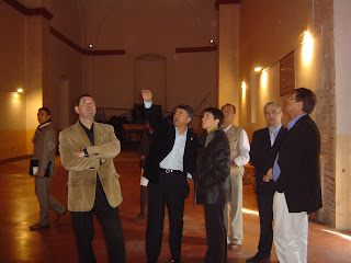 Visita de las autoridades a la antigua Iglesia de la Concepción