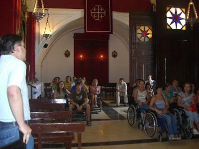 El grupo en la Ermita de Nuestro Padre Jesús
