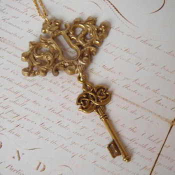 Ornate Key and Escutcheon Pendant
