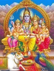 Lord Shiva,Parvati Devi and Lord Ganapati and Lord Murugan