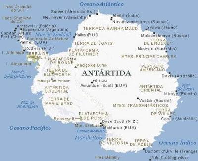Antártida mapa