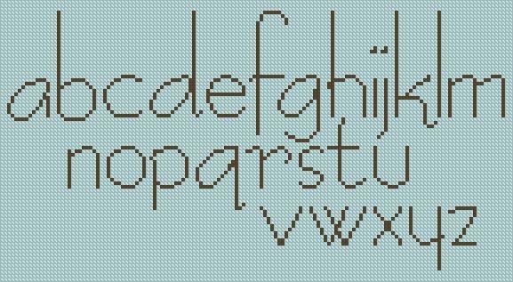 Free Cross Stitch Alphabet Letters