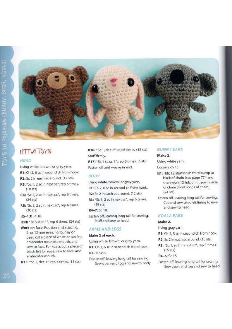 Blog de Goanna: Patrón de animales bebé en Amigurumi: Koala, Osito y ...