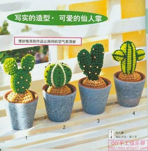 Cactus Fantasia Amigurumi Tejidos A Crochet : Blog de Goanna: Patron Cactus Amigurumi