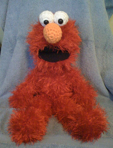 Blog Amigurumi Espana : Blog de Goanna: Patron Elmo en Amigurumi (Barrio Sesamo)