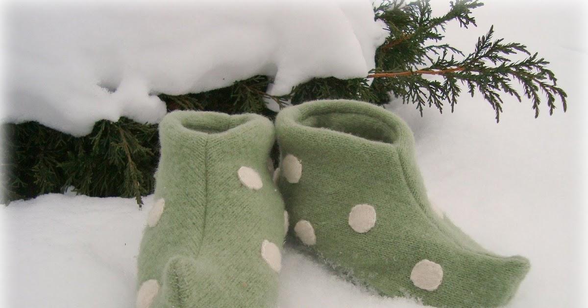 Blog de Goanna: Tutorial con molde de Botitas de Elfo en Fieltro