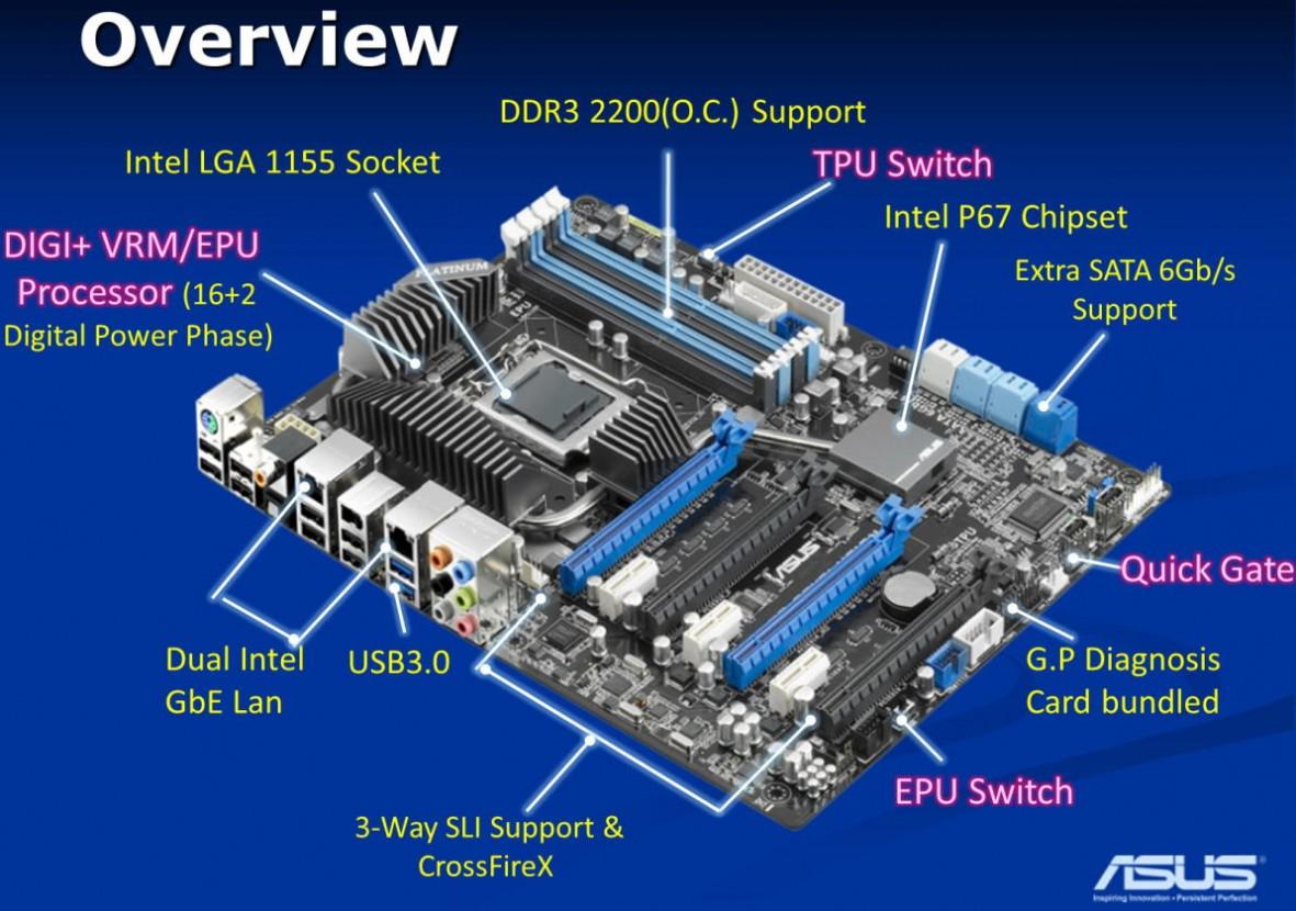 Asus P8p67 Ws Revolution Motherboard Picturedasus P8p67 Ws